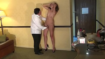 Bussiness woman satisfied in hotel room