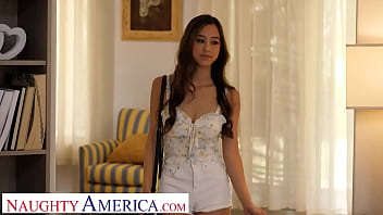 Naughty America - Asian cutie Alexia Anders visits friend's brother on job site and gives him some afternoon delight