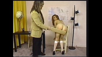 Girl spanked with paddle crying Triple play 10