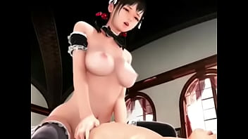 Young beauty saddled dick and got cum in pussy (3D Animation) 3 min