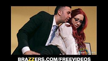 Stunning redhead businesswoman closes a big deal