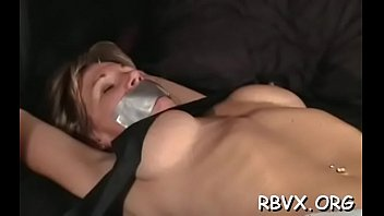 Juvenile hottie gets restrained good whilst getting teased by toy