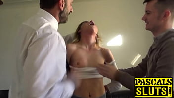 Young Rhiannon Ryder Face Fucked In Cum Eating Threesome