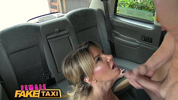 Female Fake Taxi Blonde cab driver loves cock