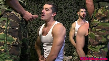 Military homosexual inquiry Muscled british stud jocks group blowjob