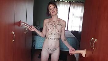 Skinny petite slut dreams of having more then one cock   gangbang fantasy