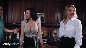 Brunette Milf (Danica Dillon) Tastes Young Boy Cock Hard - Reality Junkies