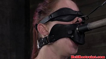 Mouth gagged slut getting nose treatment