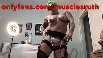 Onlyfans/musclesruth fbb curvy muscle milf amazon big boobs tits femalebodybuilding sexymuscle woman