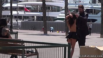 Bdsm by city Petite euro slave disgraced on the dock