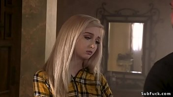 Fan Fucks Blonde Cam Girl In Bondage