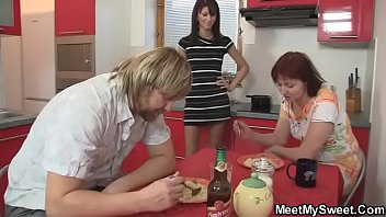 Nasty chick gets fucked by her BF's olds