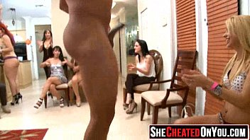 Flourescent strip 36 36 cheating whores suck of stripper at cfnm party1