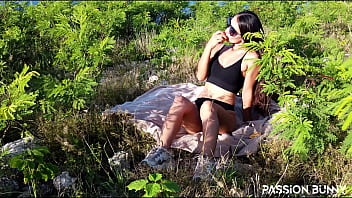 Dream sporty girl enjoy juicy sunrise outdoor with beauty self fuck in shaved tight pussy – PassionBunny