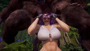 Sluty Girl mates with fairy monsters | Big Cock Monster | 3D Porn Wild Life