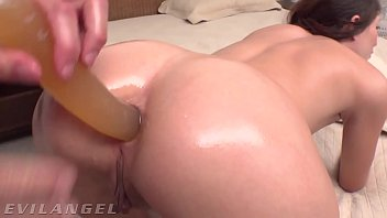 EvilAngel - Young Tatted Teen DP'd With Anal Toy