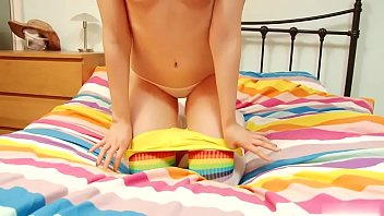 Teen blonde has a pair of perky tits and a butt to match