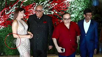 Boney Kapoor grabbing Urvashi Rautela ass and boobs press live on camera