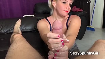 Hot Roommate Gives Hand Job: POV with Huge Cumshot!
