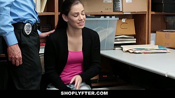 Shoplyfter - Teen Brutally Fucked For Stealing Records porn image
