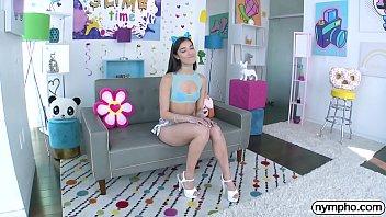 NYMPHO Skinny Latina Emily Willis has her ass plugged 12 min