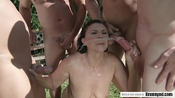 Margo T. goes crazy for gangbang