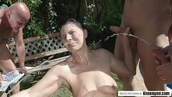 Crazy pee she Margo t. goes crazy for gangbang