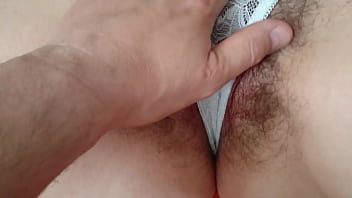 Czech hairy pussy masturbates in mohair sweater