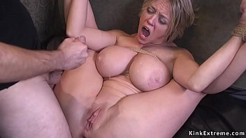 Flogging tits - Dude fucks monster tits milf bdsm