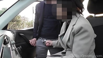 Dogging my wife in public car parking and jerks off an voyeur after work - MissCreamy porno izle
