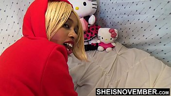10696 Big Booty Ass Cheeks On Sexy Black Babe Panties Pulled Off Butt In Slow Motion , Msnovember In Doggystyle Position Get Pussy Exposed Then Laying Sideways With Thick Thighs On Tiny Body HD Sheisnovember preview