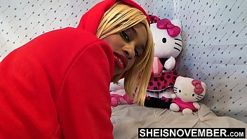 9073 Big Booty Ass Cheeks On Sexy Black Babe Panties Pulled Off Butt In Slow Motion , Msnovember In Doggystyle Position Get Pussy Exposed Then Laying Sideways With Thick Thighs On Tiny Body HD Sheisnovember preview