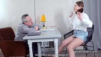 Ideal college girl gets tempted and shagged by older tutor