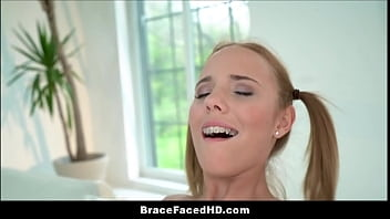 Little Blonde Teen Step Daughter With Braces And Pigtails Fucked By Step Dad