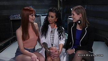 Threesome lesbian deep anal fisting dp 5 min
