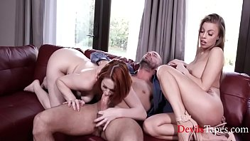 Husband Brought Home His Mistress - BritneyAmber & EdynBlair