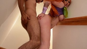 Scooby Doo Redhead Velma takes a pounding
