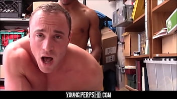 Gay muscle sex by a ladder - Jock caught stealing fucked by black security guard