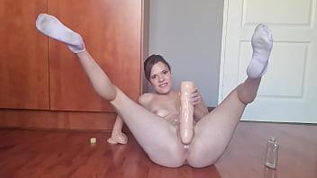 Huge dildo insertion | pussy destruction