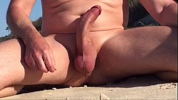 Rock hard curved cock at...