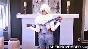 Adult knickers - What every you say step dad, i will take off my clothes for you , innocent ebony step daughter msnovember does what her father asks and get naked, undressing pulling her panties off her petite ebony ass on sheisnovember