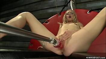 Pinned nipples blonde fucking machine