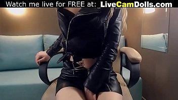 Teen in leather masturbate live on public webcam صورة