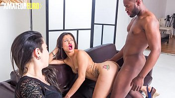 AMATEUR EURO  Super Hot Latina Teen Jade Presley Takes BBC On Set While The Guy's Wife Is Watching