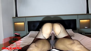 Naughty girlfriend makes surprise with maid costume and takes cumshot in pussy