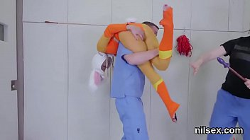 Horny chick is taken in butthole asylum for awkward therapy