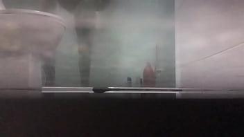Hot amateur video taking a shower
