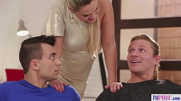 Step brothers in nasty bisexual threesome