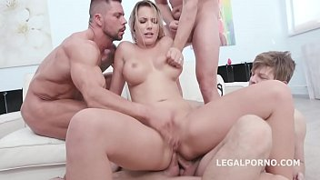 Naked Barefoot, Jolee Love 4on1 Balls Deep Anal, DAP, Gapes, Anal Fisting and Swallow GIO1345