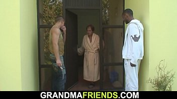 Her old mommy is used by two horny dudes porno izle